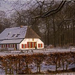 Boerderij in sneeuw