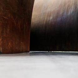 Detailopname sculptuur 'Open Ended'.