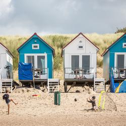 Lekker voetballen op het strand van Vlissingen (Zeeland)