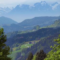 De Oostenrijkse Alpen vanuit Zuid-Duitsland