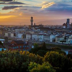 Florence zonsondergang