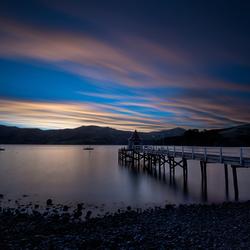 Zonsondergang Akaroa - Nieuw Zeeland