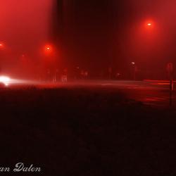 Mist op het kruispunt