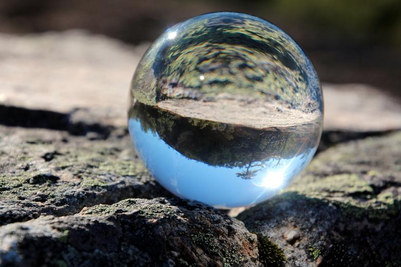 glas helder - Het Noorse landschap in een glazenbol