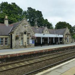 Station Pitlochry hoofdstationsgebouw