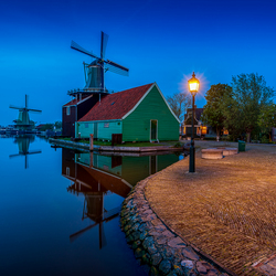 Zaanse Schans by night