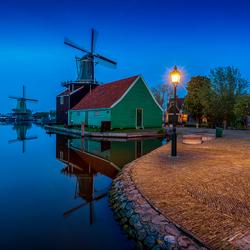 Zaanse Schans by night