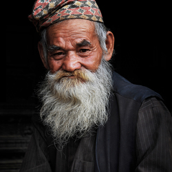 A portrait of a man from Bhaktapur