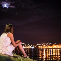 Kijkend in de nacht