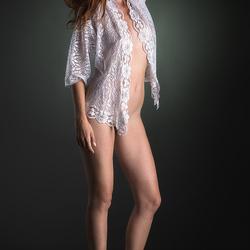 Yasmine in white blouse