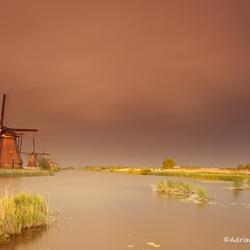Cloudy Kinderdijk