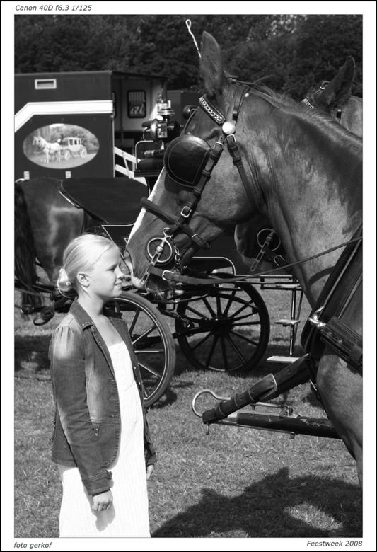 meisjes en paarden - Feestweek santpoort 2008