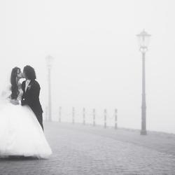 Bruiloft in de mist