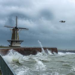 Storm Bella in Vlissingen