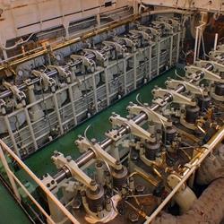 Motorruimte zeesleper ELBE
