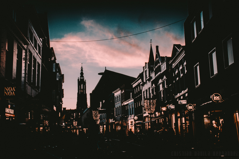 Amersfoort by sunset - Super zons ondergang in mijn eigen stad! Met goede nadruk op de lieve vrouwe toren. Hoor graag feedback!