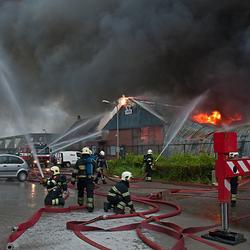 Grote brand in Egmond