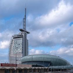 Moderne gebouwen Bremerhaven
