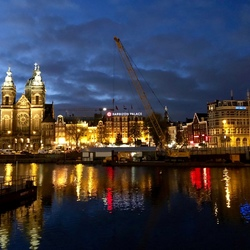 Amsterdam Construction at Dawn