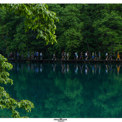 In line at the Plitvice lakes