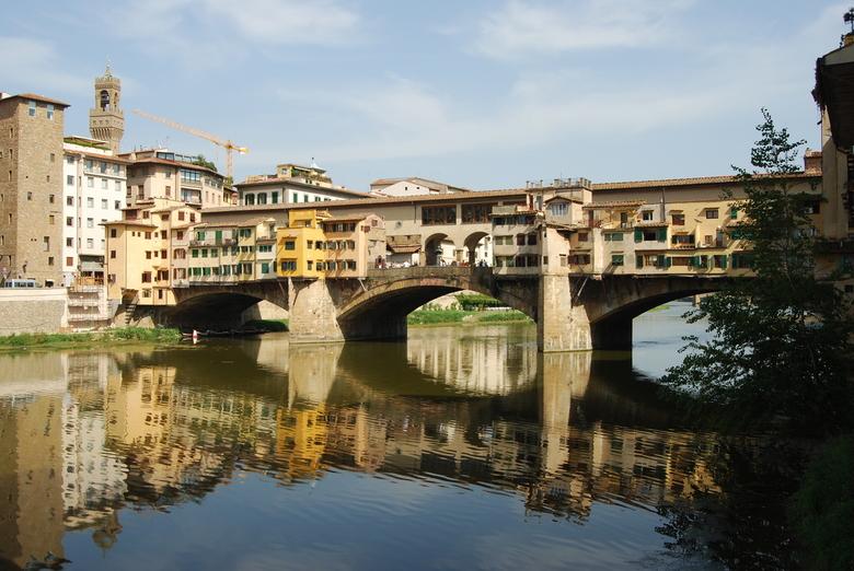 Florence - Ponte Vecchio (Middeleeuwse brug over de Arno) in Florence