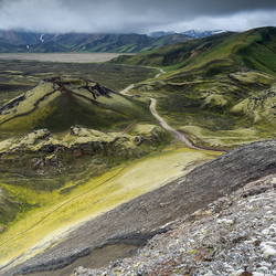 Taking an adventurous road by car in Iceland