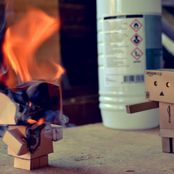 This Danbo is on fire!