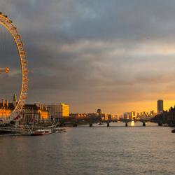 Londen zonsondergang