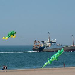 Vliegers en schepen