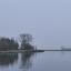 jachthaven in de mist