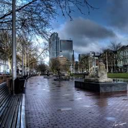 Rotterdam na een regenbui