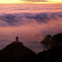 Vuurtoren in de Mist