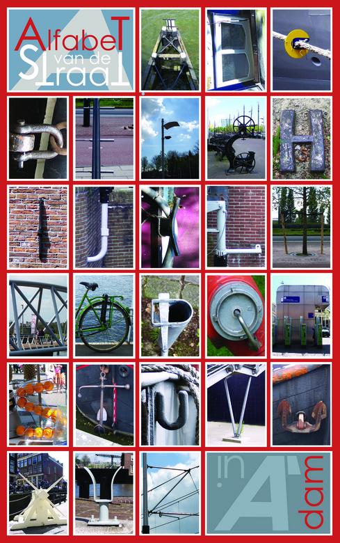 Alfabet van de straat - Ik heb in Amsterdam alle letters van het alfabet gefotografeerd in het straatbeeld van Amsterdam. Het mochten geen échte lette