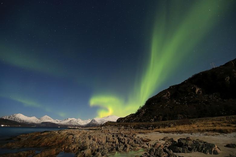 Northern light eagle - northern light  Tromso