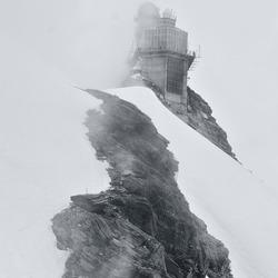 mist op het Jungfraujoch
