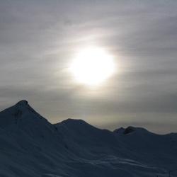 Zon boven de Alpen