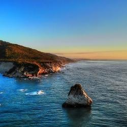 Tasman sea sunset