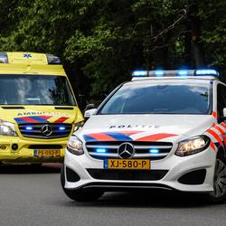 Politiewagen en ambulance