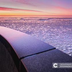 Wintermagie bij de afsluitdijk