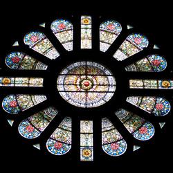 Zijraam glas-in-lood van de Basiliek van de H. Nicolaas