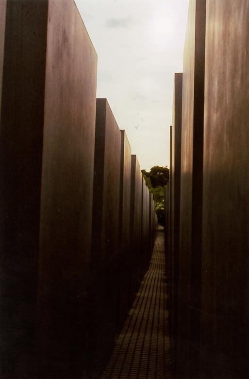 Het Monument - In de monument voor de vermoord Joden in Berlin