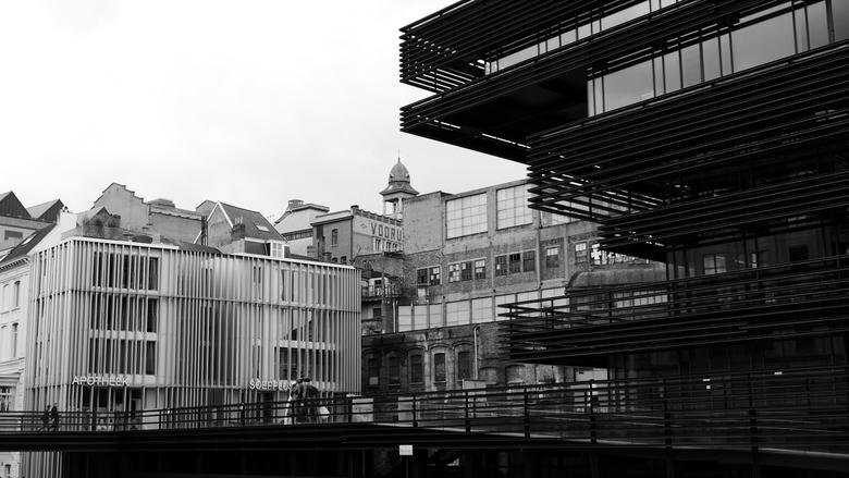 Gent - Waalse Krook - Diversiteit aan architectuur in Gent, België.