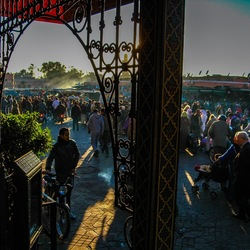 Busy streets in Marrakesh