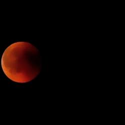 Rode maan.