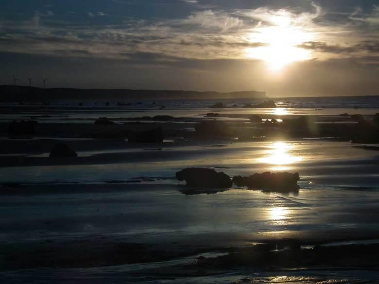 Sotteville-sur-Mer, Normandië, Frankrijk - Zonsondergang bij het strand van Sotteville-sur-Mer, Normandië