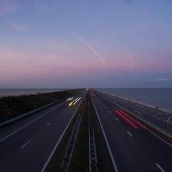 Avond op de Afsluitdijk