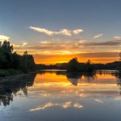 zonsondergang boven het develbos