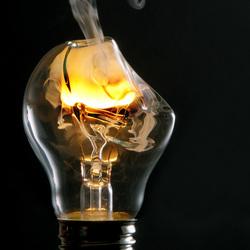 Gesmolten lamp