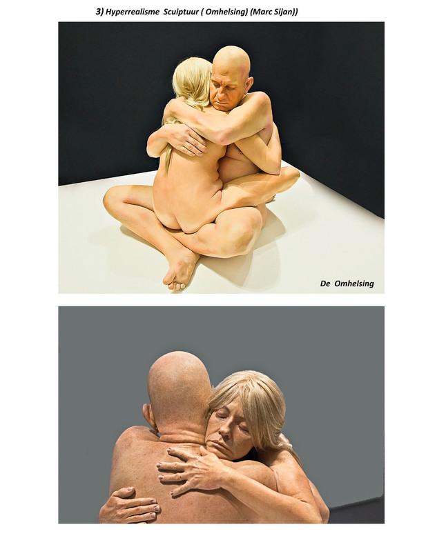 3) Hyperrealisme Sculptuur (Omhelsing) (Marc Sijan)