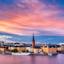 Zonsondergang boven Stockholm